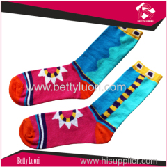 Multi Color Funny Women' s Cotton Jacquard Socks