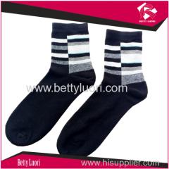 Men's Plain Dress Cotton Socks