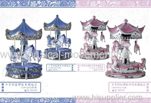 POLYRESIN CAROUSEL SAFE MUSIC BOX