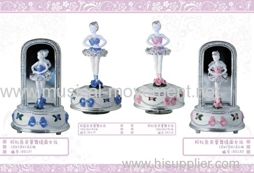 POLYRESIN BALLERINA MUSIC BOX