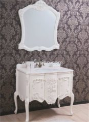 cream PVC bathroom cabinet bathroom cabinet factory