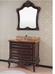 reddish brown Wall hung pvc bathroom cabinet /bathroom ware