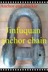 Anchor end chain shackle