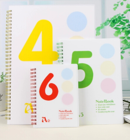 Wide Ruled PP Cover Spiral Notebook
