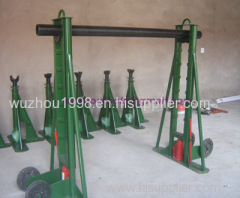 Hydraulic Reel Stands Roll On Drum Stands with trapezoidal structure