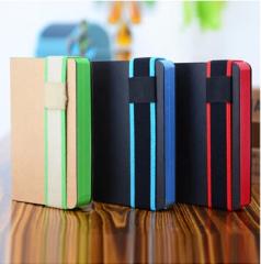 Wood Free Paper Elastic Band Moleskine Type Notebook