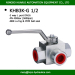 BK3-G1/2 hydac 3 way bsp female thread 1/2 inch DN16 high pressure ball valve white zinc plated