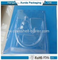 Plastic clamshell packaging for lock