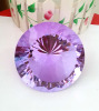 crystal purple diamond paperweight