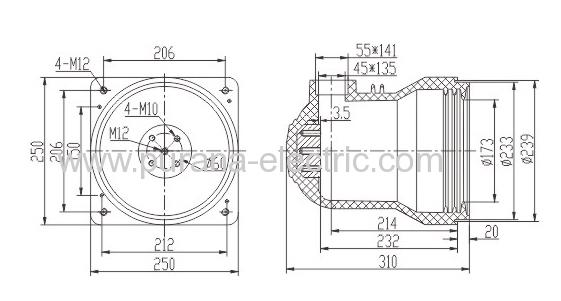 12kv  2500a switchgear epoxy resin contact box
