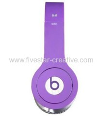 Monster Solo High Performance Justbeats by Dr.Dre On-Ear Headphones with ControlTalk Purple