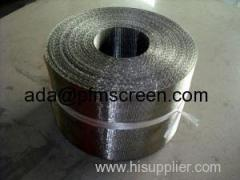 Plastic extrusion filter screen band