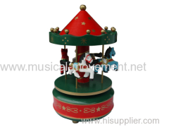Green Wind up Spring Musical Carousel Best Sound Quality