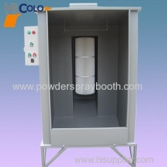 Manual powder paint booth
