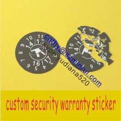 High quality self adhesive tamper evidents sticker labels