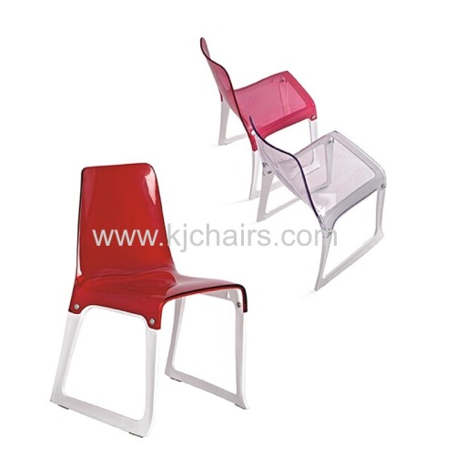 pc plastic seat with metal frame chair