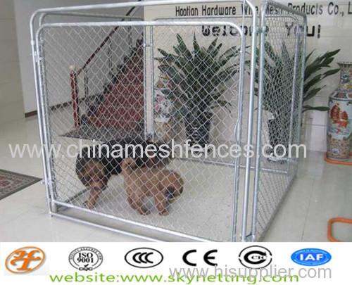 гальванизированная звено цепи собаки питомника 50x50 мм 60х60мм Размер отверстия
