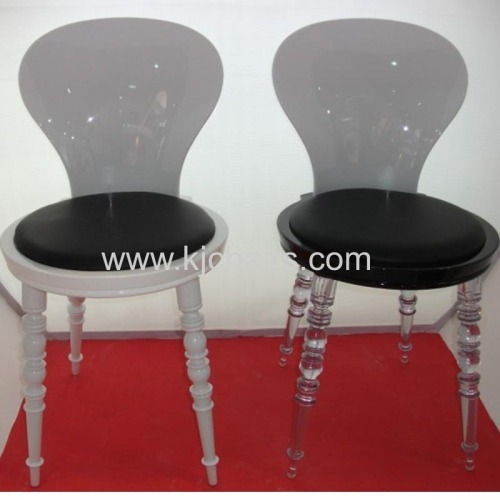 Modern PC plastic chairs without armrest
