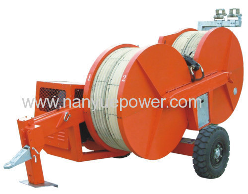 Hydraulic Cable Pulling Machine : Kn bullwheel hydraulic cable puller tensioner overhead
