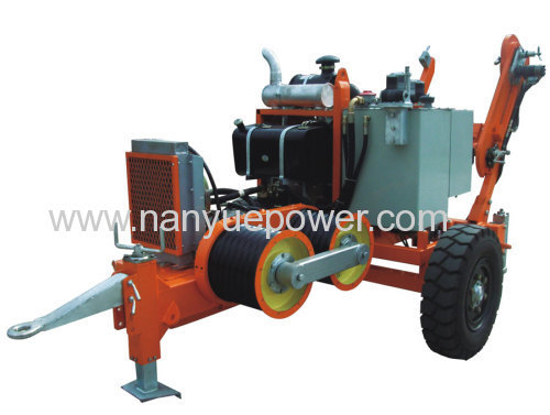 Hydraulic Cable Pulling Machine : T hydraulic cable winch puller power transmission and