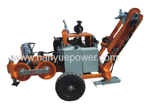 Hydraulic Cable Pulling Machine : T hydraulic cable pulling winch puller tensioner as