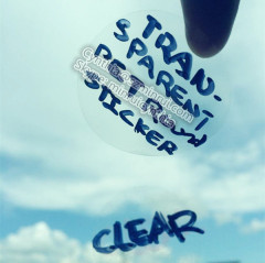 Clear Transparent Adhesive Stickers
