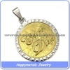 2014 stainless steel gold pendant designs men