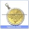 2014 stainless steel gold pendant designs men