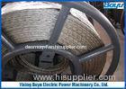 Galvanized Steel Anti Twist Braid Rope / Anti Twist Wire Rope for Transmission Line Stringing