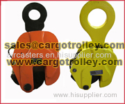 Steel plate clamps for lifting and rigging works