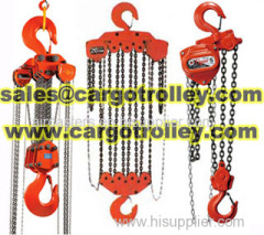 Chain pulley blocks price list and application