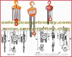 Manual chain hoist also know as hand chain hoist