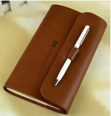 Leather Pack Narrow Journal With Pen