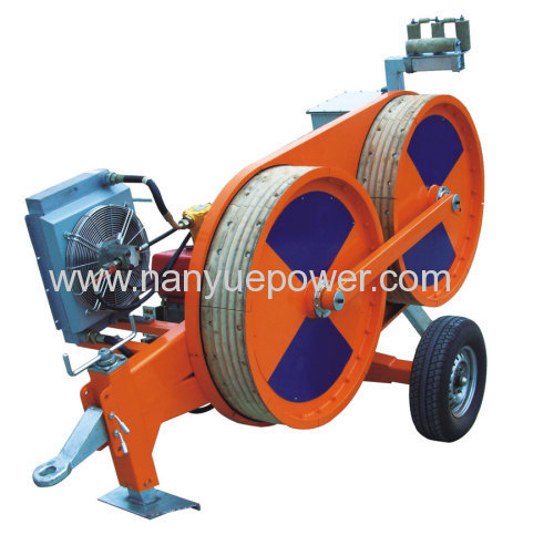 10 T Hydraulic wire cable winch puller tensioner electric power transmission line conductor tension stringing equipments