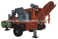 25T wire cable pulling puller tensioner machine overhead power transmission lines conductor tension stringing equipment
