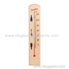 wooden saun thermometer; wood sauna thermometer