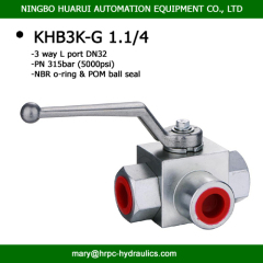 BK3-G1 1/4 series DN32 BSP female high pressure 3 way ball valve manufacturer