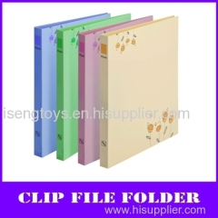 fashion flowers a4 pp file folder (with clip and board)