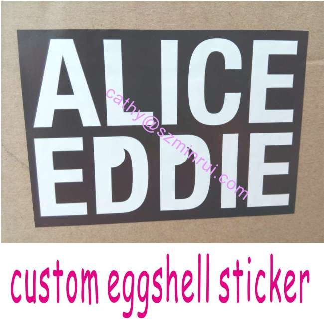 stronger adhesive printable custom individual eggshell With custom individual stickers