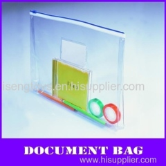 clear a4 pvc zipper documents bag