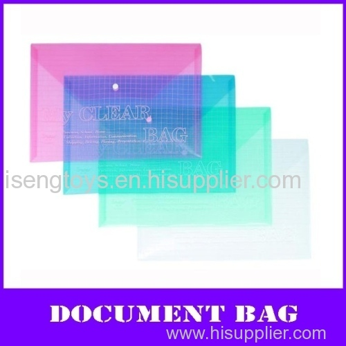 color a4 pp documents bag with button lock