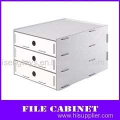 3-layers desktop pp A4 file cabinet