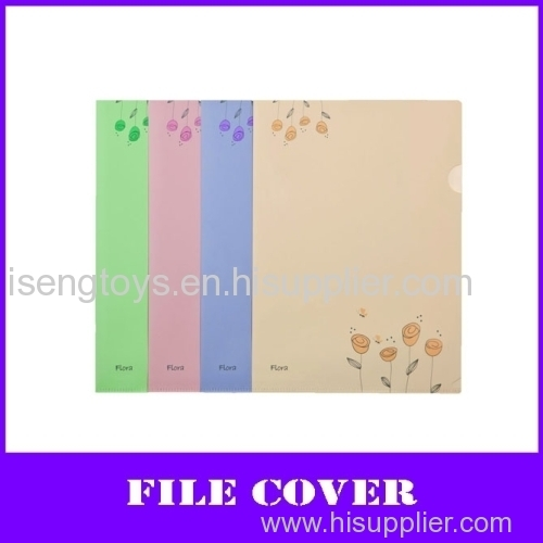 fashion flower color a4 pp file cover
