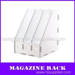3-units a4 pp Magazine file holder