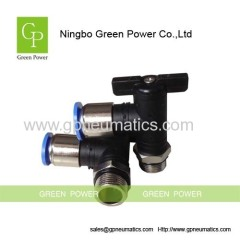 Small pneumatic ball valve