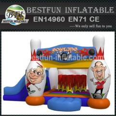 Commercial inflatable bowling combo