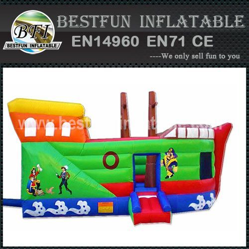 Inflatable pirate ship bounce