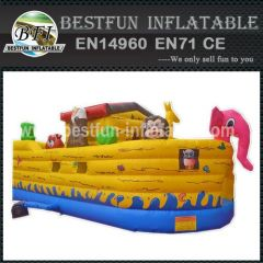 Inflatable Noah's Ark animal house boat