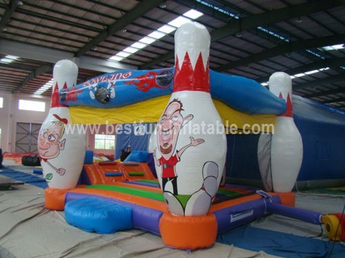 Bowling theme inflatable combo