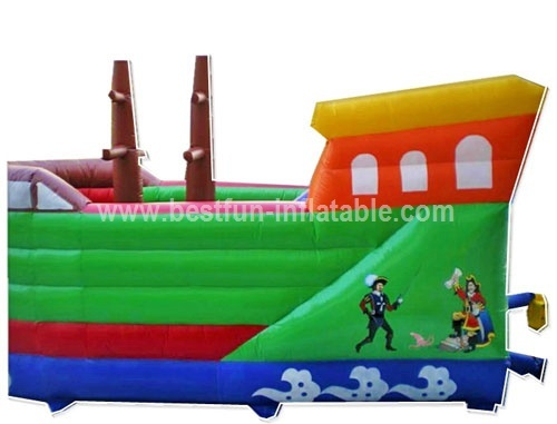 Commercial selling inflatable pirate ship bounce